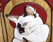 Custom Pet Portrait Carved and Painted