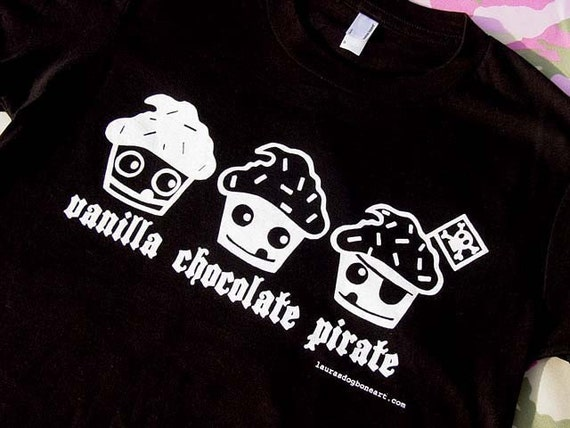 The Pirate Cupcake Womens Fit American Apparel T Shirt