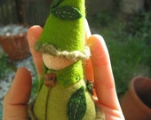 Spring-warmed-earth Gnome--Waldorf inspired deluxe finger puppet nature table play set