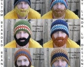 Custom- Pre-Teen, Teen, Adult Men's, Women's Bearded Beanie- FREE Priority Shipping in US