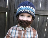 Custom- Infant, Toddler, Child's Bearded Beanie- FREE Priority Shipping in US