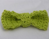 Toddler Crocheted Bow Tie  - Lime - 18 mo 2T 3T 4T