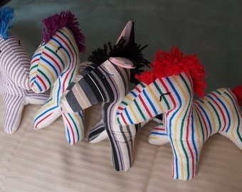 PDF Pattern for soft stuffed Zebra or Horse from KNITOWL