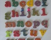 RESERVED FOR KARLEEANNE alphabet magnets lower case