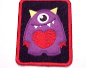 Monster Applique Embroidered Denim Iron on Patches