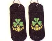 Irish claddagh chapstick\/lip balm\/USB holder keychain