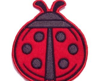 Embroidered Ladybug Iron on Patch