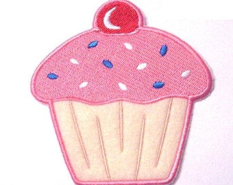 Embroidered Cupcake Patch