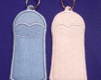 Bride or Bridesmaid lip balm, USB, or lighter holder keychains