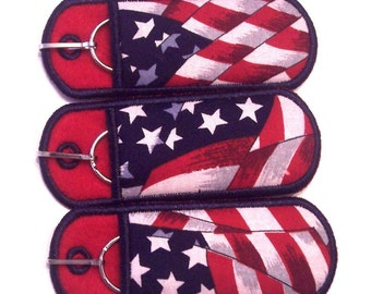 Flag Lip Balm, lighter, usb keychain Holder