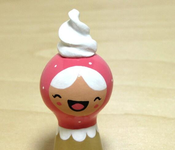 Pink Whipped Cream Girl Plini Figurine