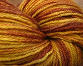 Eye of the Tiger - Hand Dyed Superwash Merino Sock Knitting Yarn
