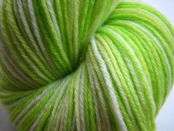 Key Lime Pie - Green Ombre Hand Dyed Merino Wool Sock Knitting Yarn ...