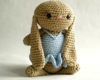 Cotton Crochet Bunny with Dress - you choose colors