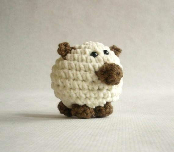 Items Similar To Mini Sheep Crochet Farm Plush Toy On Etsy