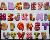 Retro Alphabet Magnets