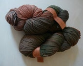 Mama Llama Sock, fingering , hand dyed yarn