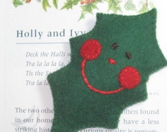 Holly the Felt Pin Brooch