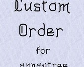RESERVED- Custom Order for annavtree- Copper and sterling necklace