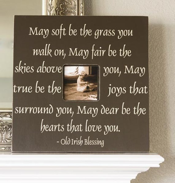 Irish Blessing Fancy Frame Photo Memory Quote Wedding Or