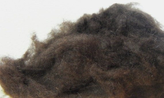 Yak wool Dark Brown ready to spin fiber fibre
