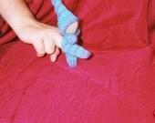 Handknit walking gnome finger toy - Waldorf