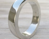 Sterling Silver Chunky Wedding Band Ring