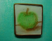 Green Apple Pin