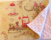 Retro Circus Minky Baby or Toddler Blanket