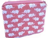 HOLIDAY SALE Pink Elephant Pouch