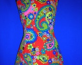 Mod Paisley Halter Mini Dress