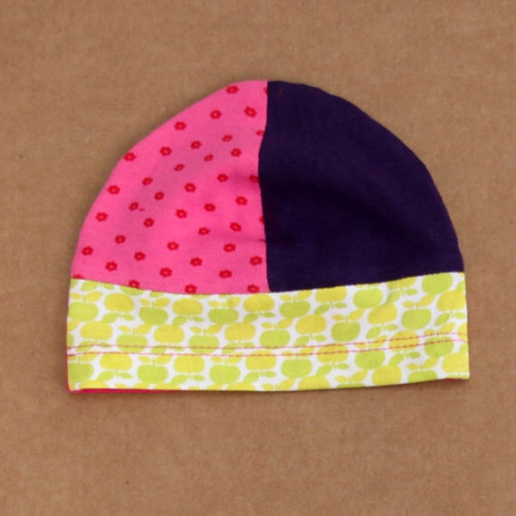 2-4 M recycled tees beanie hat for baby girl