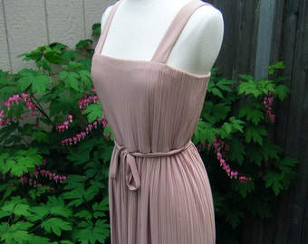 vintage 1970s BEIGE BEAUTY evening gown