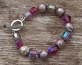Raspberry Chunk Bracelet