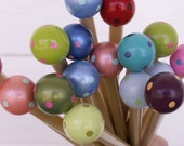 Handcrafted Wood Knitting Needles, 3 Pairs -Your colors Your sizes