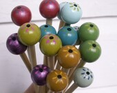 Custom Order for WoolFan Flower Power Hand Crafted Wood Knitting Needles