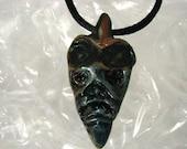 Blue Arrow Head Pendant necklace- Handmade sculpey original
