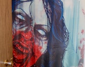 RW2 SHOWER CURTAIN Night Life zombie fantasy art