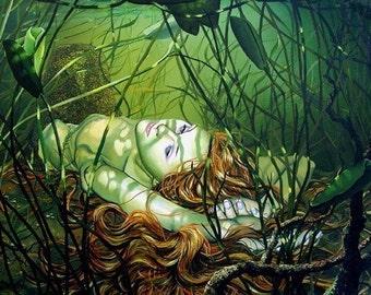 RW2 Signed Limited Edition Print NEWEST Mermaid Art Surrealism