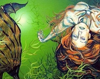 RW2 Signed Limited Edition Print Mermaid Art Surrealism