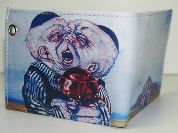 RW2 Alice in Wonderland Dee and Dum leather Wallet Circus Freak Punk Emo