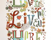 "Love Lives Here 8.5x11"" art print"