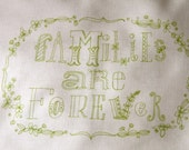 families are forever, embroidery stitching pattern