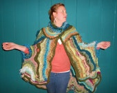 OOAK Elegant Free form Crochet Cape/Shawl with FREE SHIPPING