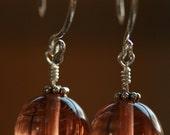 Peachy Glass Earrings