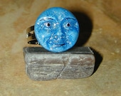 Deep Blue Baby Face Ring just in time for the Holidays