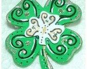 Luck of the Irish Handpainted Pin Fun and Funky