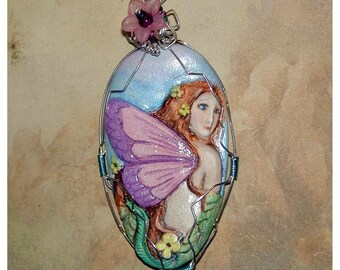 Pretty Hand Made Fairie Fairy Pendant