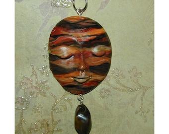 Desert Landscape Handpainted Pendant