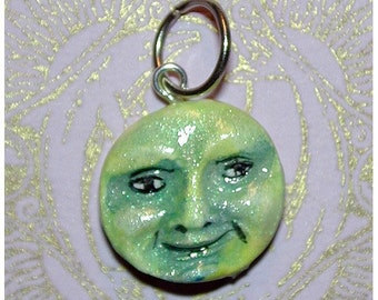 Irish Green  Baby Face Pendant just in time for Spring